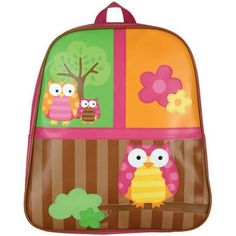 Monogrammed Stephen Joseph Owl Backpack by @KennedisCloset