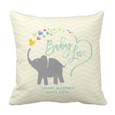 Rainbow Child, Elephant Child Love Throw Pillow. >>> Discover more by going to the photo