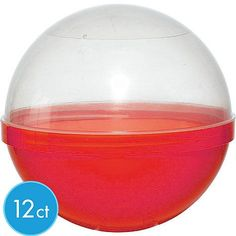 Red Ball Favor Containers 6in 12ct - Favor  Red for Mario green for luigi with initials