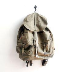 vintage 1950s czechoslovakian military rucksack