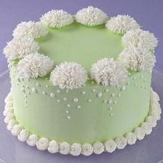 Stunning Mum Profusion Cake - The plush look of Shaggy Mums adds wonderful texture to a basic iced cake. Cake Decorating Designs, Creative Cake Decorating, Wilton Cake Decorating, Cake Decorating Techniques, Creative Cakes, Cake Designs, Decorating Ideas, Buttercream Decorating, Decor Ideas