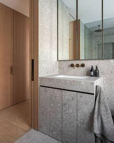All Posts • Instagram Bathroom Toilets, Bathrooms, Plumbing Fixtures, Bathroom Interior Design, Powder Room, Double Vanity, Contrast, House Design, Stone