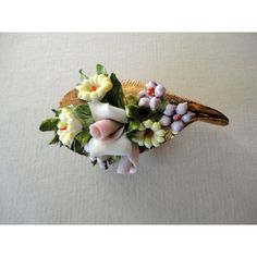 Vintage Brooch Spring Flower Bouquet (€22) ❤ liked on Polyvore featuring home, home decor, vintage home decor and vintage home accessories