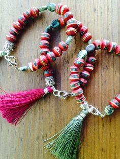 Himalaya Yoga Bracelet with Buddha Tibetan Bone by MessyJewelry