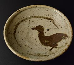 作品No.5 加藤唐九郎 水禽絵皿 Kato Tokuro Dish with waterfowl design