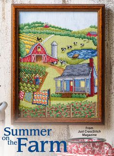 Summer on the Farm from the Jul/Aug 2015 issue of Just CrossStitch Magazine. Order a digital copy here: https://www.anniescatalog.com/detail.html?prod_id=125655
