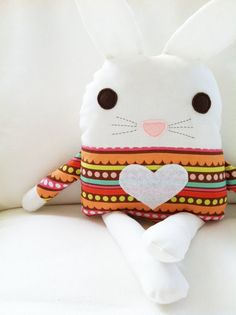Bunny Sewing Pattern Bunny Doll Softie Toy PDF by toy Fabric Toys, Fabric Crafts, Sewing Crafts, Sewing Projects, Paper Toys, Toy Art, Sewing Dolls, Diy Toys, Sewing For Kids