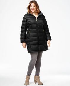 Michael Michael Kors Plus Size Packable Puffer Coat