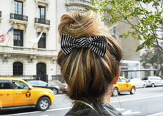 #stripe #bunbow @glamgerous #bow #ginamadeit