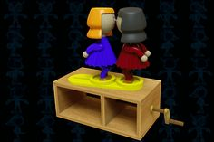 Kissing Dolls Wooden Toy - SOLIDWORKS - 3D CAD model - GrabCAD