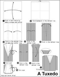 Tuxedo (Small Size) - Easy Origami instructions For Kids