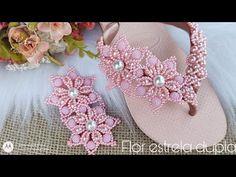 Youtube, Fashion, Decorated Flip Flops, Decorated Bottles, Flip Flop Decorations, Black Pearls, Crochet Sandals, Felt Animals, Flip Flops