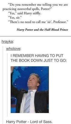 Sassy Harry Potter