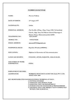 10 Best Download Resume Images Cv Format Biodata Format Download