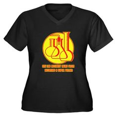 lab accident Women's Plus Size V-Neck Dark T-Shirt