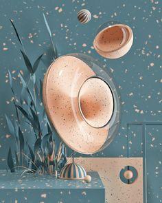 Roman Bratschi on Behance Design Ios, Graphic Design Art, Design Thinking, Interactive Walls, Futuristic Art, 3d Artwork, 3d Drawings, Movie Poster Art, Motion Design