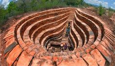 300 year old stepwell in Prakasam district of Andhra Pradesh, India [building] - architecture Indian Temple Architecture, India Architecture, Historical Architecture, Ancient Architecture, Beautiful Architecture, Building Architecture, Gothic Architecture, Places To Travel, Places To Visit