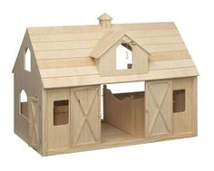 Amazon.com: Deluxe Wood Barn with Cupola: Toys & Games