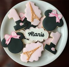 A personal favorite from my Etsy shop https://www.etsy.com/listing/248891643/minnie-in-paris-cookies-one-dozen