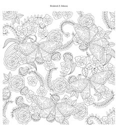 Amazon.com: Butterfly Garden: Beautiful Butterflies and Flowers Patterns For Relaxation, Fun, and Stress Relief, Vol. 10 (9781530015924): Broderick S Johnson: Books