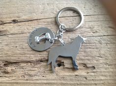 One Siberian Husky Custom Keychain Dog Lover by tagsoup on Etsy, $18.00
