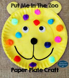 Your children will have fun creating a Put Me In The Zoo Paper Plate Craft to look like the main character in the book, Spot and his different color spots.
