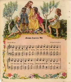 Lovely Jesus Loves Me Vintage Hymns and by ankiradesign on Etsy
