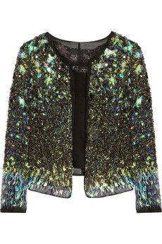 The Trophy Jacket...subtle shimmer from this waterworld palette takes this trend to classic status