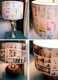 DIY photo Lampshades EASY #craft lamp personalized