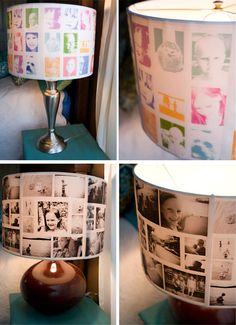 DIY: Lampshades *EASY* Use PHOTOS or PRINTS! :-)
