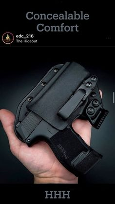 Looking for both Comfort and Retention in your holster? That's why we only make hybrid holsters. You get the positive retention of Kydex and the body-forming goodness of Amish leather. Best Concealed Carry Holster, Kydex, Hand Guns, Leather, Amish, Firearms, Pistols, Weapons, Revolvers