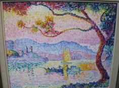 Paul Signac - Antibes, Petit Port de Bacon 1917 [Sotheby's, London - Oil on canvas, x 64 cm Antibes, Fox Painting, Painting Prints, Canvas Prints, Paintings, Matisse, Paul Signac, Iris Art, Georges Seurat