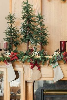 Christmas Mantel Decorations, Christmas Stockings