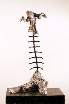 Broken, Aluminium and iron. Sculptures, Iron, Drop Earrings, Jewelry, Jewlery, Jewerly, Schmuck, Drop Earring, Jewels