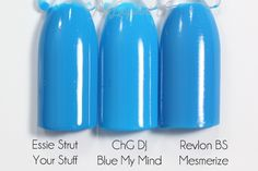 China Glaze DJ Blue My Mind comparison via @alllacqueredup
