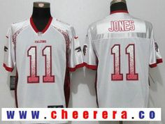 Men's Atlanta Falcons #11 Julio Jones White Drift Stitched NFL Nike Fashion Jersey