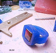 carving gets ring in blue modeling wax   iWJM