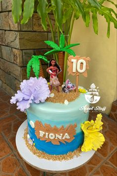 Birthday Cake Girls, Girl Cakes, Moana, Inspired, Desserts, Inspiration, Food, Tailgate Desserts, Biblical Inspiration