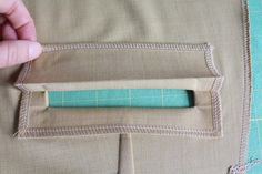Nicole at Home: Put a welt pocket on it! (Tutorial and free pattern)
