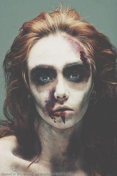 Zombie makeup art by Stephanie Neiheisel.