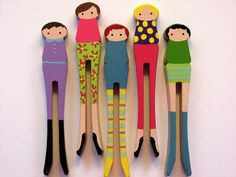 Clothespin Dolls by PrettyFickle on Etsy