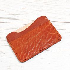 Orange Leather card holder / Women Leather card case Slim Wallet, Small Wallet, Leather Card Case, Minimalist Wallet, Orange Leather, Card Wallet, Card Holder, Trending Outfits, Unique Jewelry