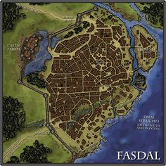 A city map for D&D or Pathfinder Fantasy city map Fantasy city City maps