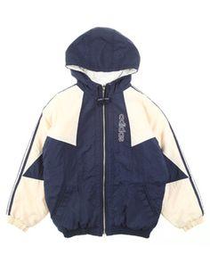 promo code 5644d 4d909 90s Adidas Blue  White Childrens Jacket