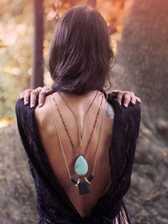 Backless Shirts and Boho Necklaces.