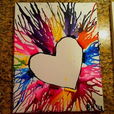 i like these crayon art pieces without the row of crayons