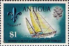 Antigua 1970 Ships and Captains Sol Quest Yacht and Class Emblem Fine Mint SG 283 Scott 255 Other West Indies and British Commonwealth Stamps HERE!
