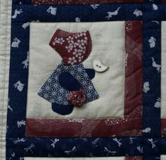 Fotky | Bellet Sunbonnet Sue, Quilts, Quilt Sets, Log Cabin Quilts, Quilting, Quilt, Afghans