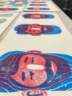 Рrinted graphics. Handmade. Linocut Children's Book Illustration, Graphic Design Illustration, Graphic Design Books, Illustrator, Stamp Carving, Linoprint, Batik, Silk Screen Printing, Expo