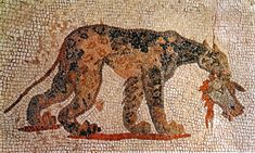 Leopard from Northern Portico. Paphos, Archaeological Park